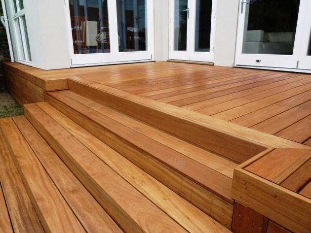Hardwood steps for decking