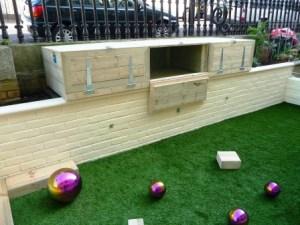 Softwood storage box