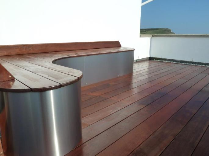 Ipe hardwood decking roof terrace, Arbworx, Sussex (3)