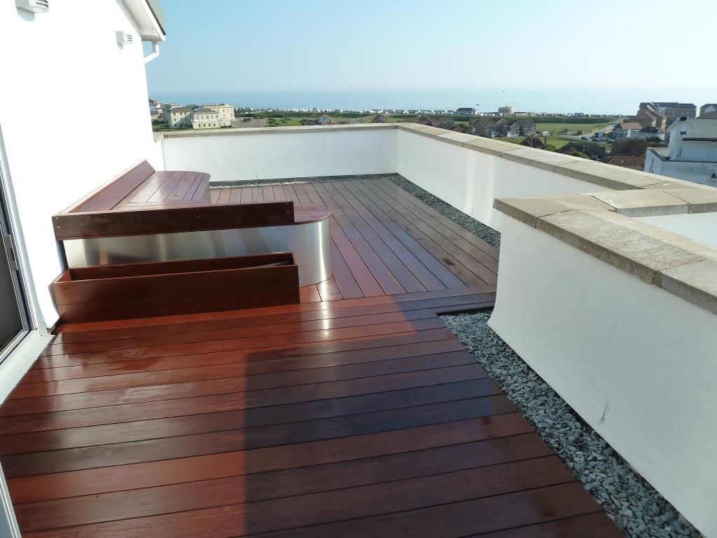 Ipe hardwood decking roof terrace, Arbworx, Sussex (6)