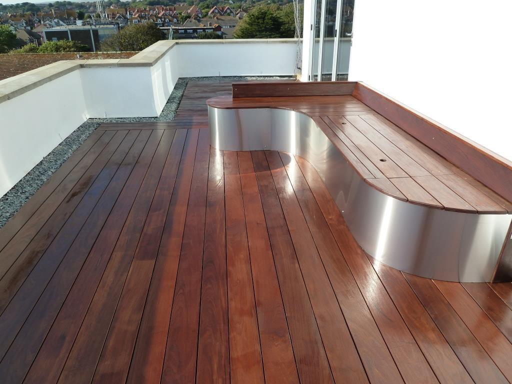 Ipe hardwood decking roof terrace, Arbworx, Sussex (5)