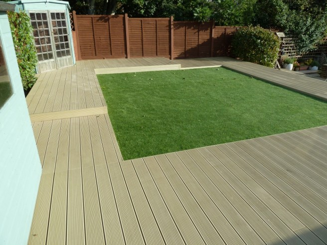 clean lines and low maintenance appeal for this Portslade garden