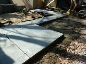 Setting out the Marshalls casarta paving
