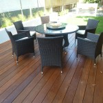 Our client couldnt wait to get the new furniture onto the deck., We even helped put it up.