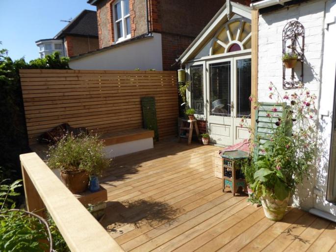 Hardwood decking Hove Brighton Sussex