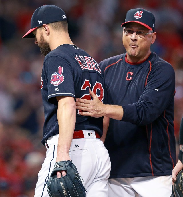 Corey Kluber and Terry Francona