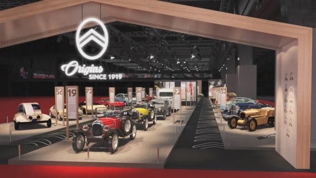 Así lucia el stand de Citroën en la exposición Retromobile de París