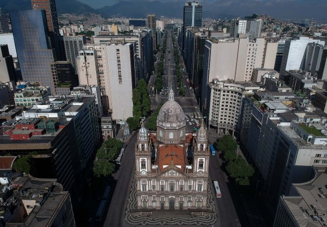 La Iglesia de la Candelaria en Rio de Janerio, Brasil