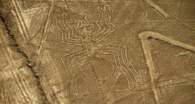 Algunas de las famosas líneas de Nazca.