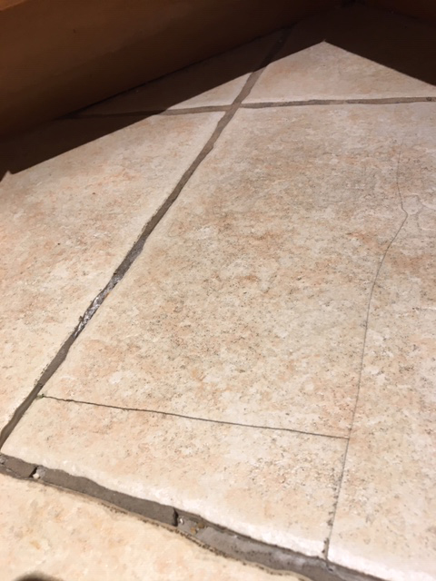 cracked kitchen tiles try a patch