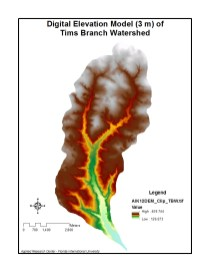Digital Elevation Model (3 m) of Tims Branch Watershed