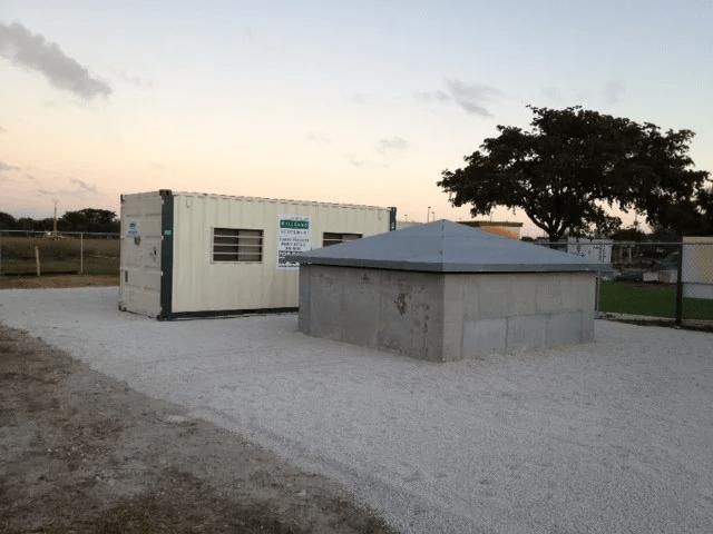 In situ decommissioning test cube