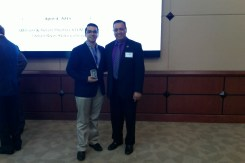 FIU STEM Student, Lazaro Mesa (3rd place oral presentation winner) and Dr. Lagos