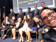 DOE Fellows Class of 2017 with Saif Ishoof, FIU's Vice President for Engagement