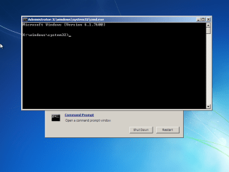 Windows 7 Recovery Command Prompt