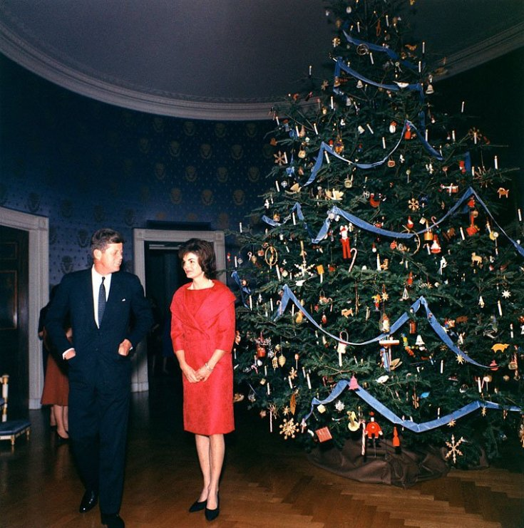 "First Lady Jacqueline Kennedy, started the holiday tradition of having an annual theme for the White House Christmas tree. In 1961, Jackie O chose for her theme, the ""Nutcracker Suite"""
