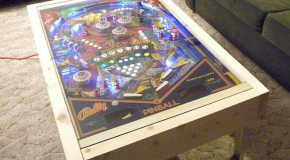 A coffee table for pinball fans