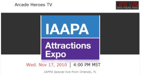 Mark your calendars: Arcade Heroes TV Live from IAAPA 2010
