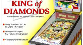 Retro Pinball/Gottlieb's King of Diamonds Pinball shipping at the end of July