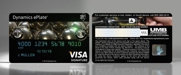 Possibly the first and only credit card adorned with pinball