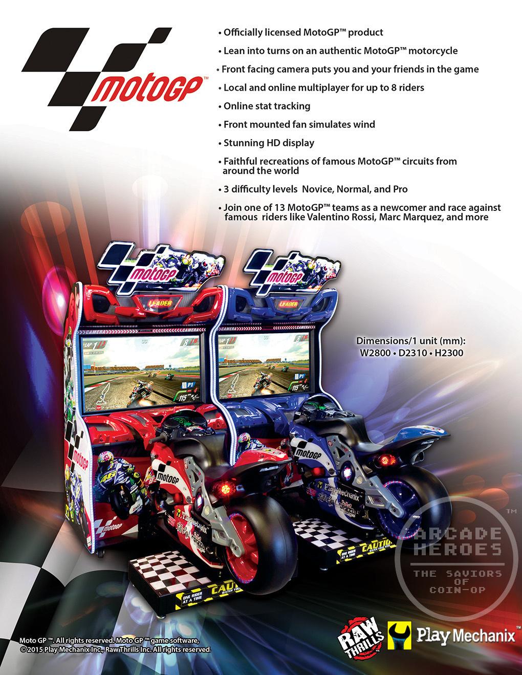 Arcade Heroes The Next Racing Game From Play Mechanix & Raw Thrills: MotoGP - Arcade Heroes
