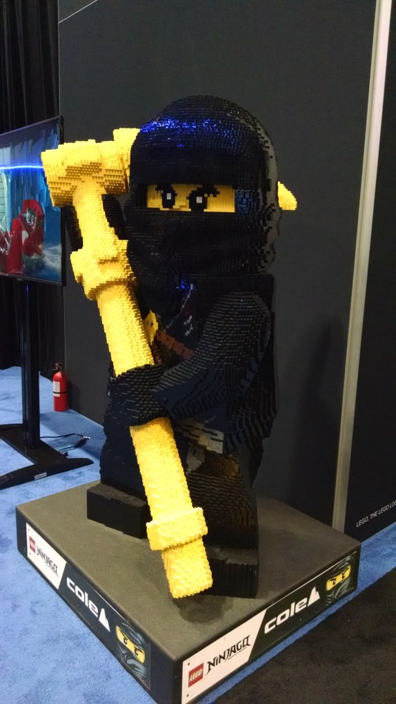Random Lego Ninja guy (setup at the Triotech booth to promote their new Lego Dark ride which uses some advanced gesture technology)