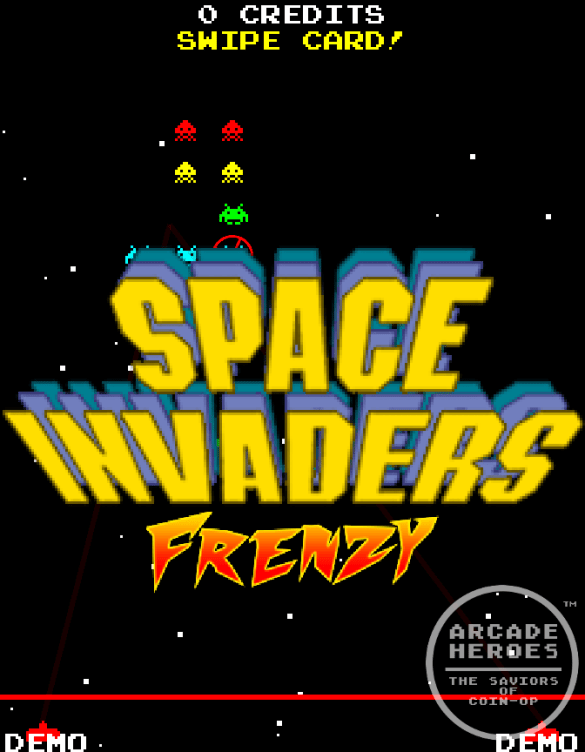 Space Invaders Frenzy Title