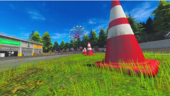 Three-Seven Speedway cones
