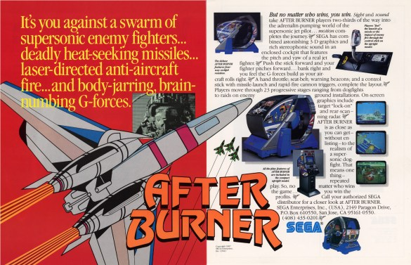 After Burner Flyer Sega