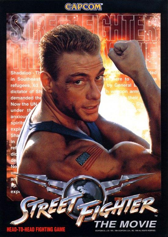 Street Fighter The Movie arcade flyer