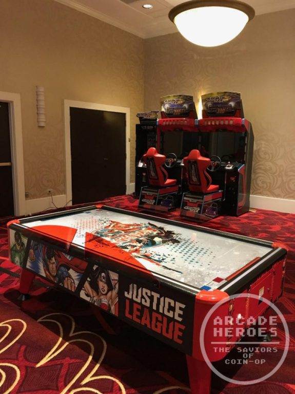 Bandai Namco Justice League air hockey