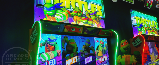 IAAPA 2017: Raw Thrills booth with Teenage Mutant Ninja Turtles; Injustice Arcade; X Games Snow Boarder