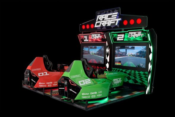 Racecraft arcade machine by Tecnoplay