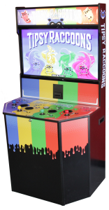Tipsy Raccoons arcade cabinet by Glitchbit