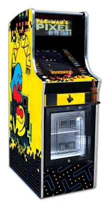 Pac-Man's Pixel Bash Chill home version arcade cabinet