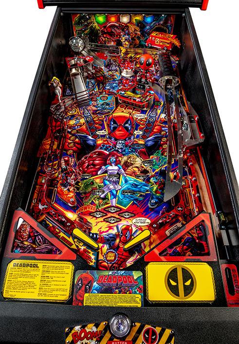 Deadpool pinball Premium model playfield by Stern Pinball