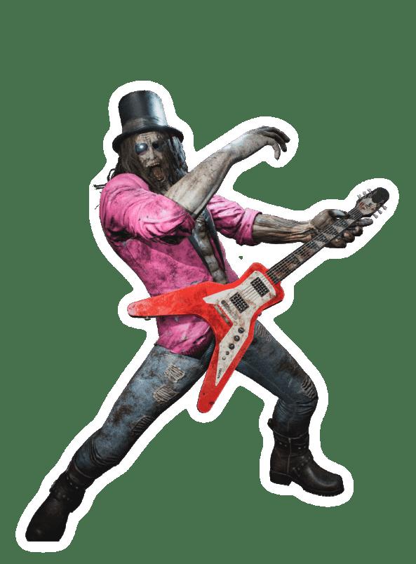 Bruce the Rocker Zombie
