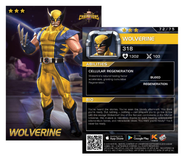 Wolverine Contest of Champions card