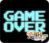 Game Over - Vintage arcade monitor graphic on black screen.