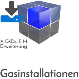 ArCADia BIM Erweiterungen Gasinstallation - Berechnung von Gasdurchfluss, Gasverbrauch, Gasbedarf, Druckabfälle, Leitungsquerschnitte - Download