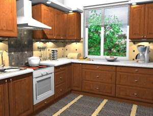 ArCADia BIM LT Architektur Erweiterung - 2D 3D CAD Original Rendering - Innenansicht Küche