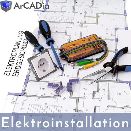 ArCADia BIM Erweiterungen für Elektroplanung wie Steckdosen, Schalter, Beleuchtung etc