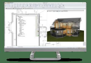 "arcadia bim architekturdesigner 3D ""Glashaus"""