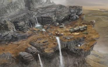 """""""Black Falls"""" Background Illustration - """"Map"""""""