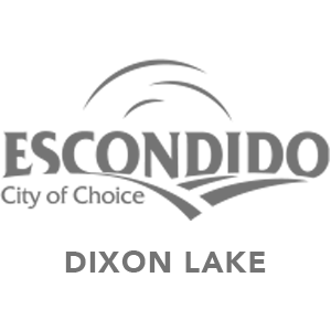 City of Escondido logo, Dixon Lake