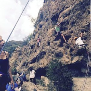 Rock climbing with Bright Star Secondary Charter Academy - Los Angeles at Malibu Creek State Park | arc Adventure