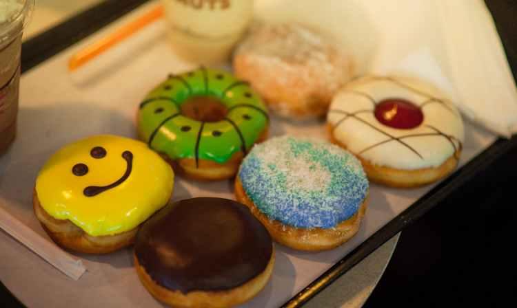dozen donuts in box