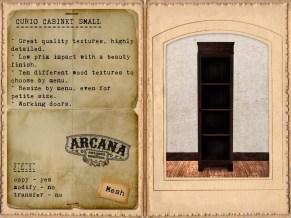 {A} Curio Cabinet Small Vendor