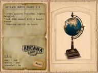 {A} Antique World Globe III Vendor