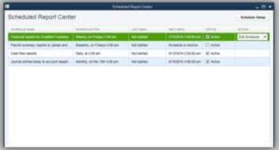quickbooks desktop 2017 Scheduled reports